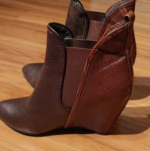 Vintage by Jeffeey Campbell wedge booties 7.5